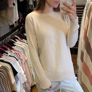 New cream sweater